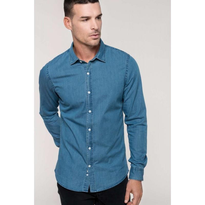 Pánska rifľová košeľa - 1