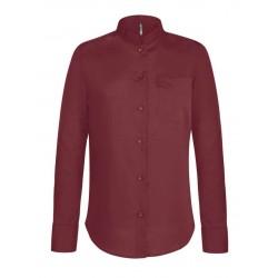 Dámska košeľa s mandarínskym golierom - 3