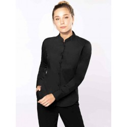 Dámska košeľa s mandarínskym golierom - 1