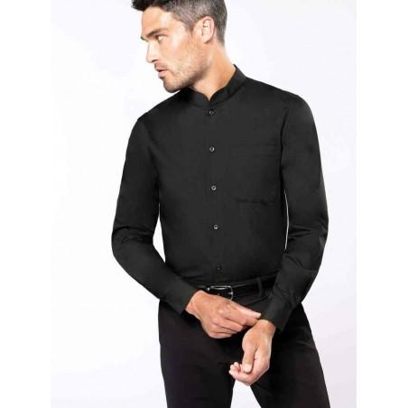 Pánska košeľa s mandarínskym golierom - 1