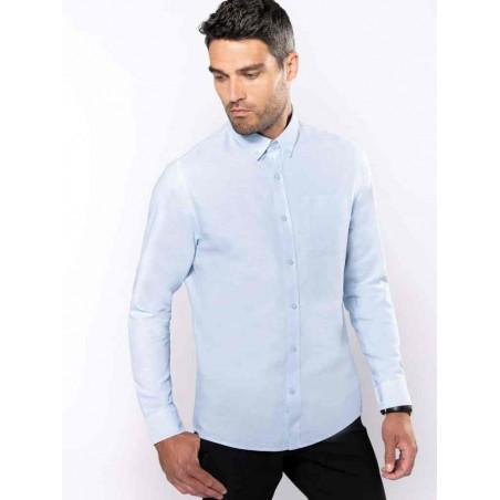 Pánska košeľa dlhý rukáv OXFORD - 1