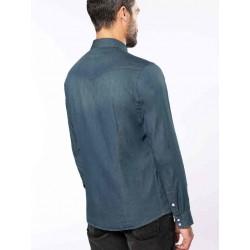 Pánska rifľová košeľa dlhý rukáv - 2