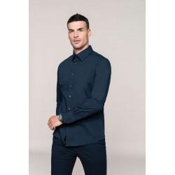 Strečová pánska košeľa dlhý rukáv