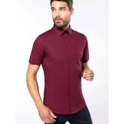 Pánska strečová košeľa krátky rukáv - 1