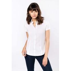 Dámska strečová košeľa krátky rukáv - 1