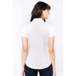 Dámska strečová košeľa krátky rukáv - 2