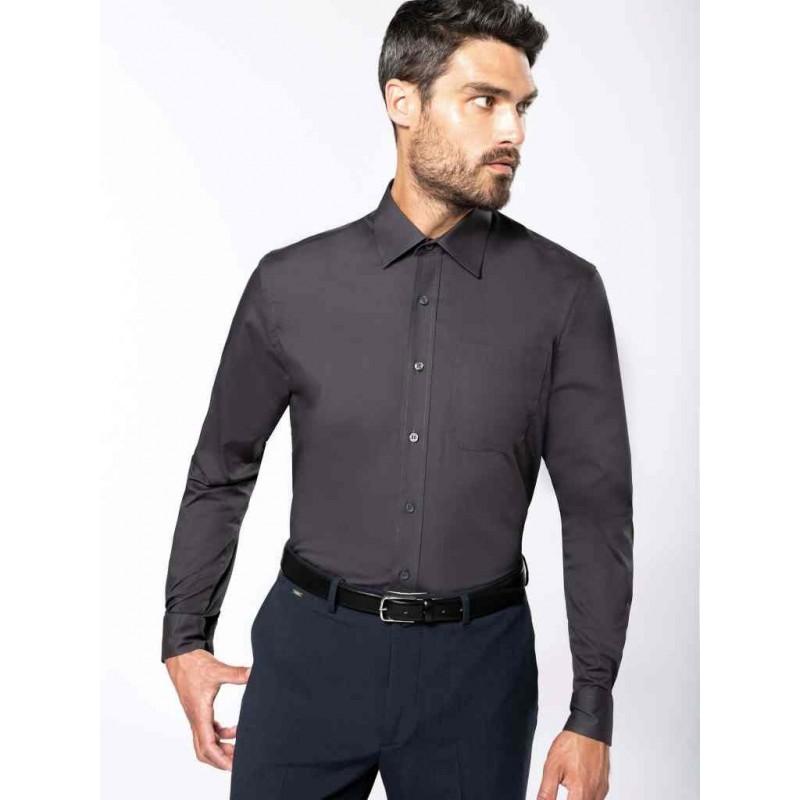 Pánska popelínová košeľa dlhý rukáv - 1