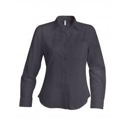 Dámska popelínová košeľa dlhý rukáv - 6
