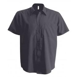 Pánska popelínová košeľa s krátkym rukávom - 2