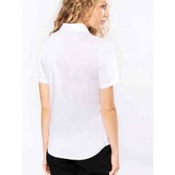Dámska popelínová košeľa krátky rukáv - 2