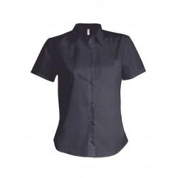 Dámska popelínová košeľa krátky rukáv - 7