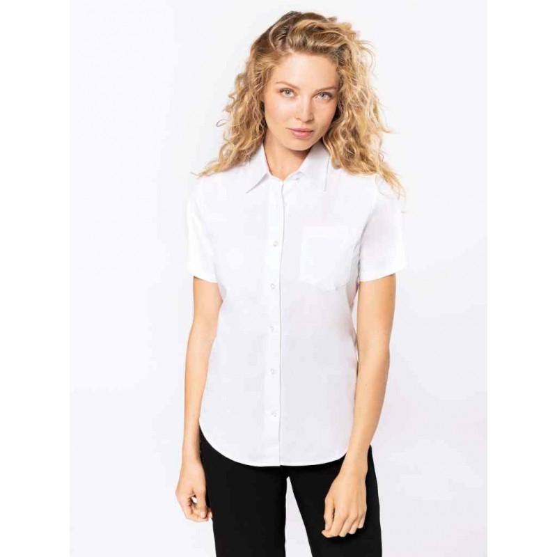 Dámska popelínová košeľa krátky rukáv - 1