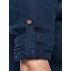 Pánska ľanová košeľa s dlhým rukávom - 4