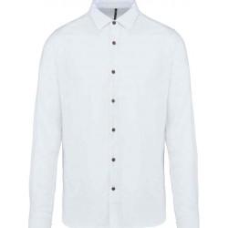 Pánska ľanová košeľa s dlhým rukávom - 5