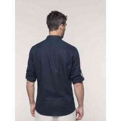 Pánska ľanová košeľa s dlhým rukávom - 2