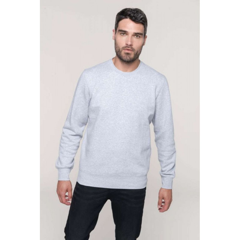 Mikina UNISEX ZIPPED NECK SWEATSHIRT - 1