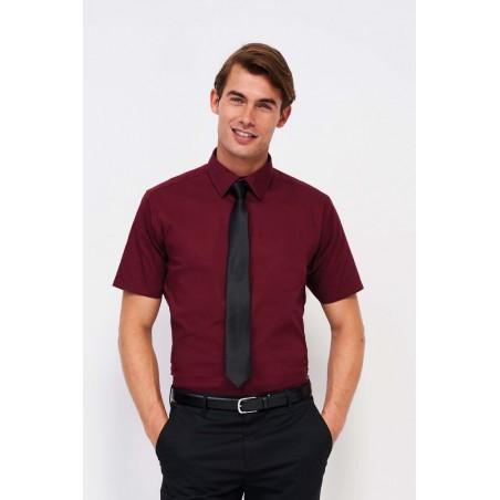 Pánska strečová košeľa krátky rukáv BRODWAY SO17030