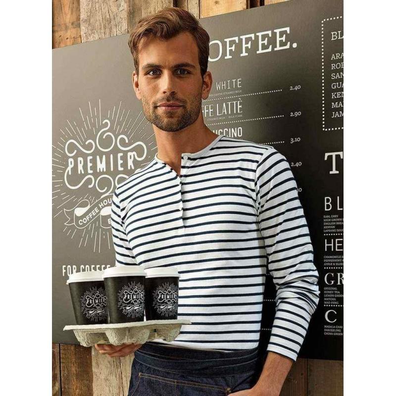 Pánske tričko s gombíkmi dlhý rukáv PR218