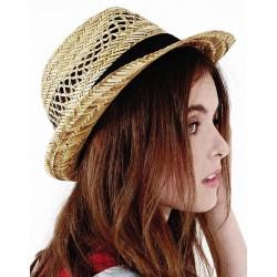 Letný slamený klobúk Trilby B730