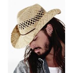 Slamený klobúk Cowboy B735