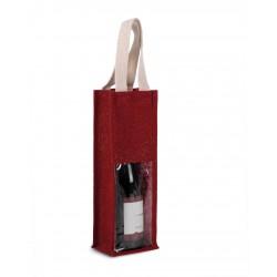 Jutová taška na víno KI0267 - 4
