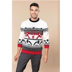 Vianočný sveter so sobmi K998 - 1
