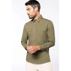 Safari pánska košeľa dlhý rukáv K590 - 1
