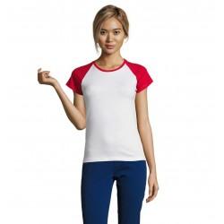 Dvojfarebné raglánové dámske tričko MILKY SO11195 - 11